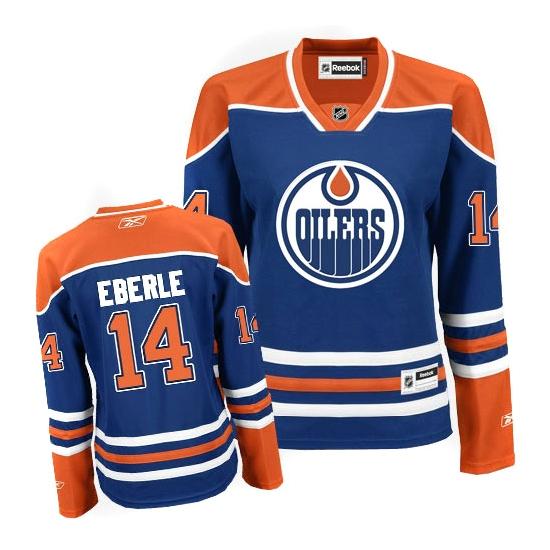 timeless design af372 a0236 Edmonton Oilers Jordan Eberle Women's Light Blue Authentic ...