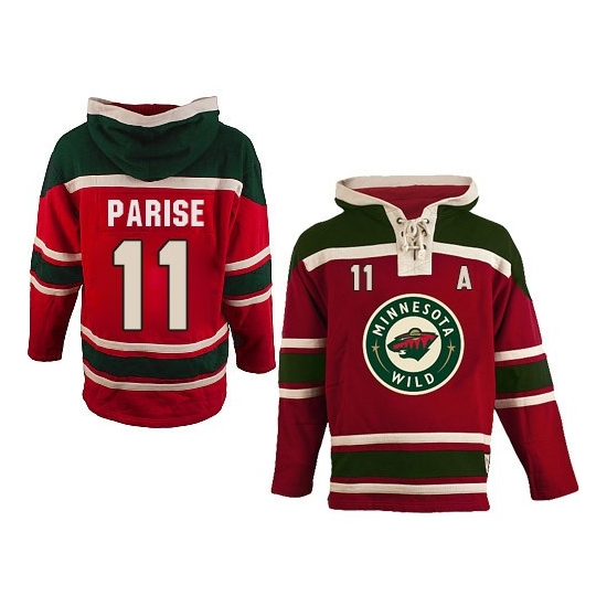 Old Time Hockey Zach Parise Red Sawyer Hooded Sweatshirt Authentic Jersey  f0e08853e1f
