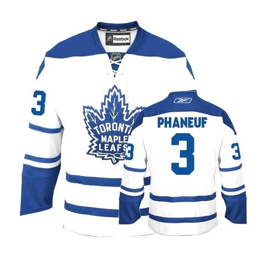 Dion Phaneuf Authentic White Third Jersey  889b256ac