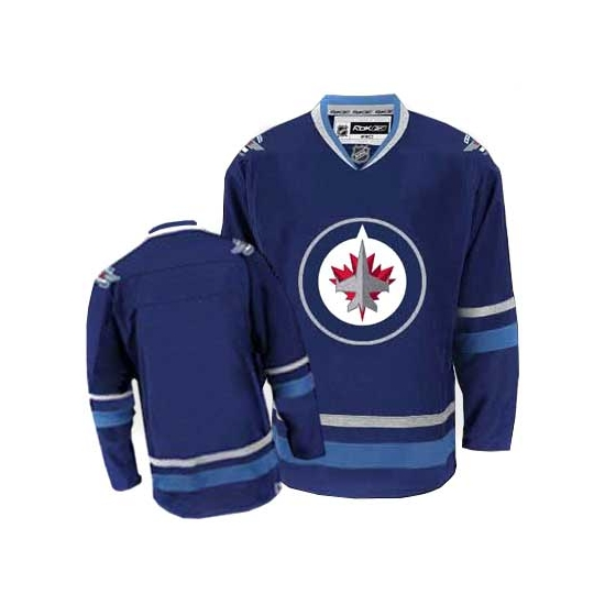 online store 16b21 abebc Reebok EDGE Winnipeg Jets Blank Authentic Dark Blue 2011 ...